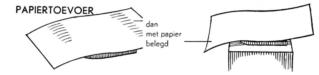 Hoogdruk, opleggen van het papier